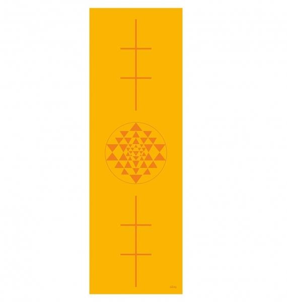 Podložka na jógu LEELA Saffron Yantra/Alignment