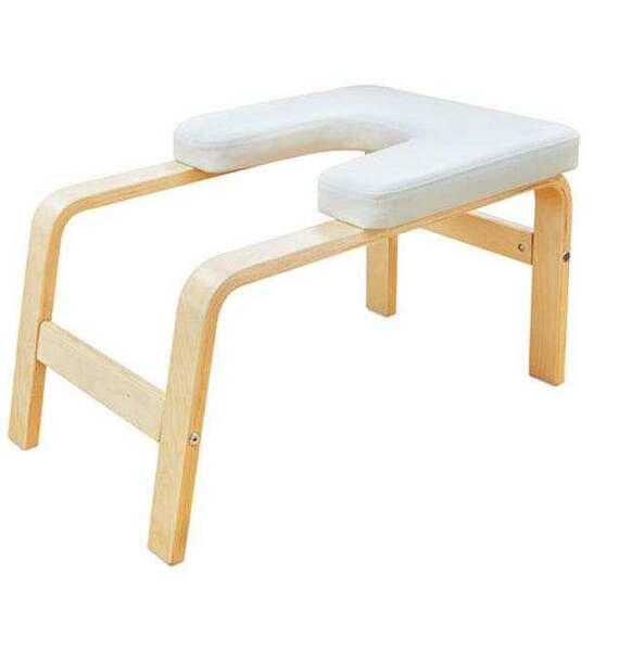 Stolička na stoj na hlavě béžová